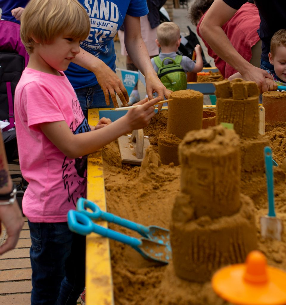 kids sand sculpture workshops