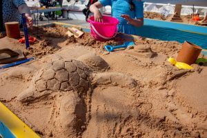 kids sand sculpture workshops blackpool