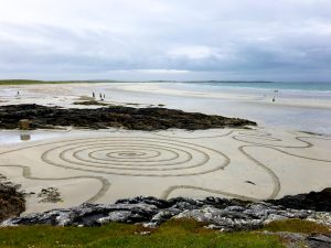 abstract sand drawing beach scotland