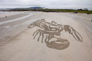 anamorphic art beach scotland