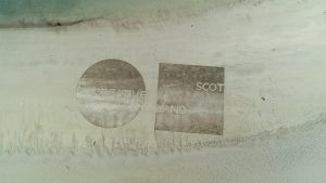 logos sand drawing rake art