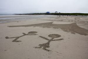 beach art scotland UK