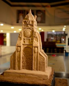 chester clock sand Sculpture