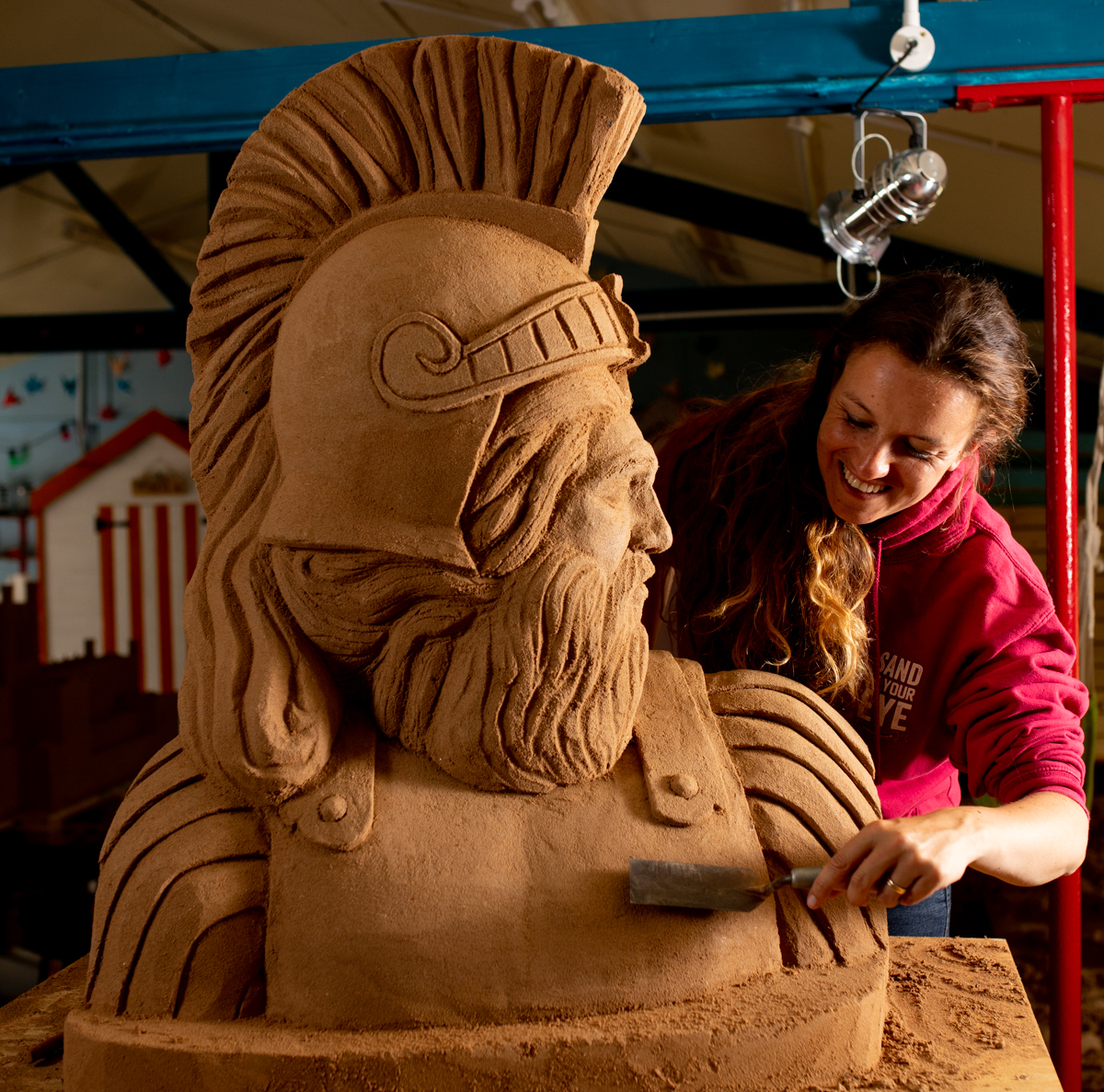 female uk sand sculptor claire wardley