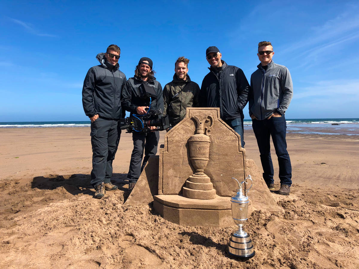 nbc golf channel sand art