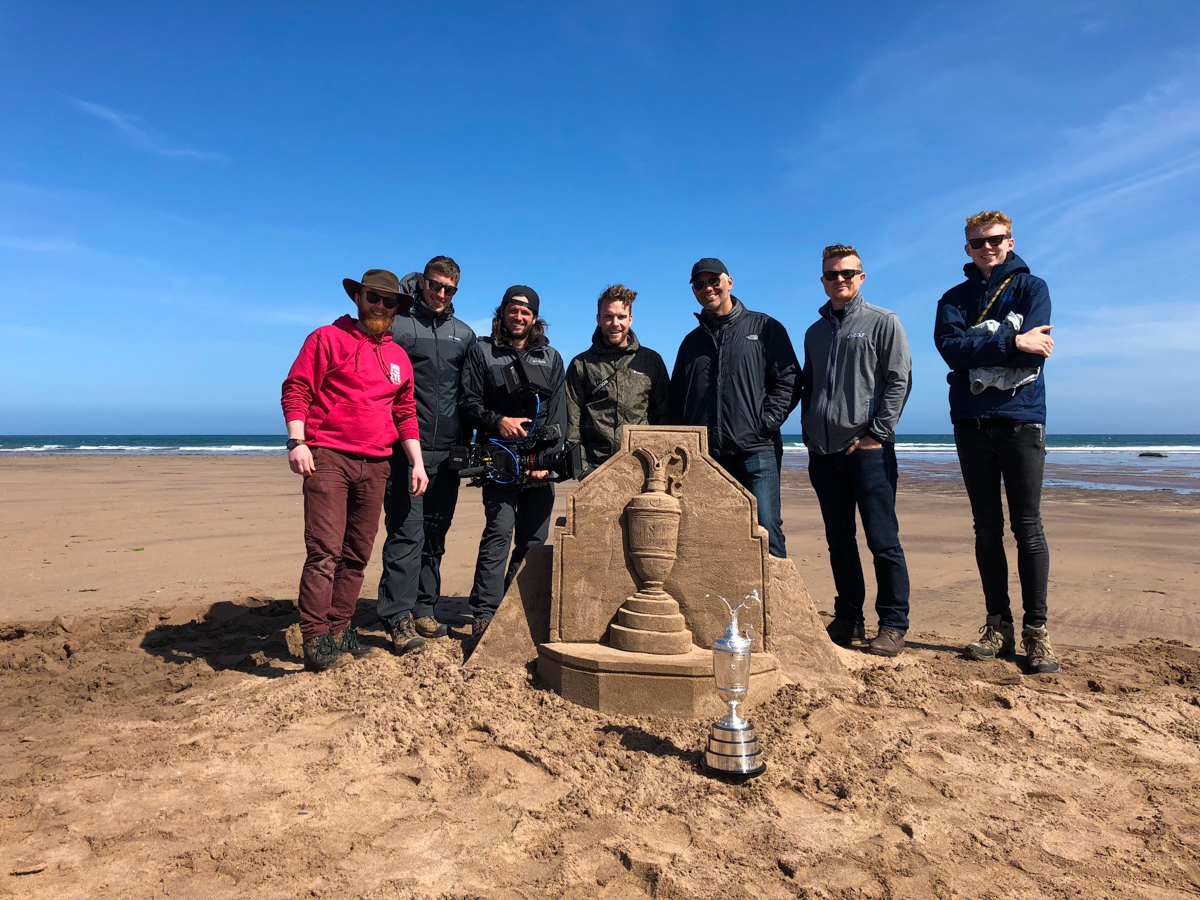 nbc golf channel sand sculpture scotland