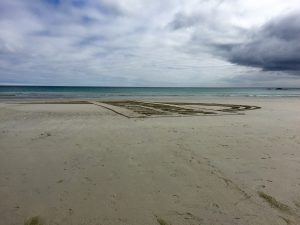 sand art beach tiree