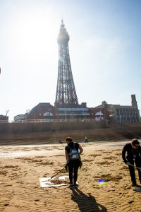 sand art blackpool tower