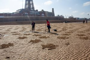 sand artist blackpool tower