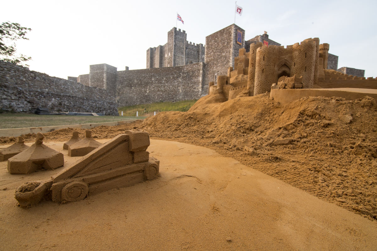 sand carving dover castle