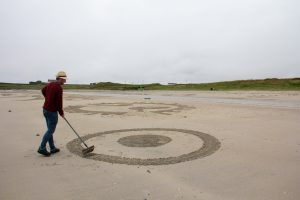 sand drawing workshop tiree