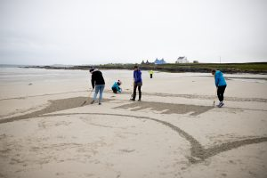 sand drawing workshops anamorphic art