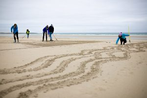 sand drawing workshops rake art