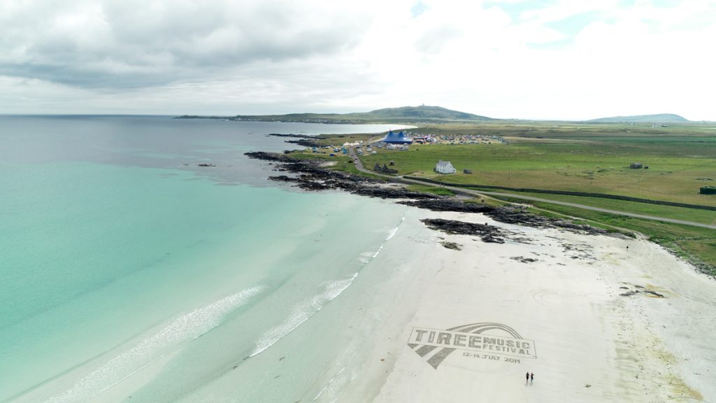 Tiree Music Festival Logo Sand Drawing