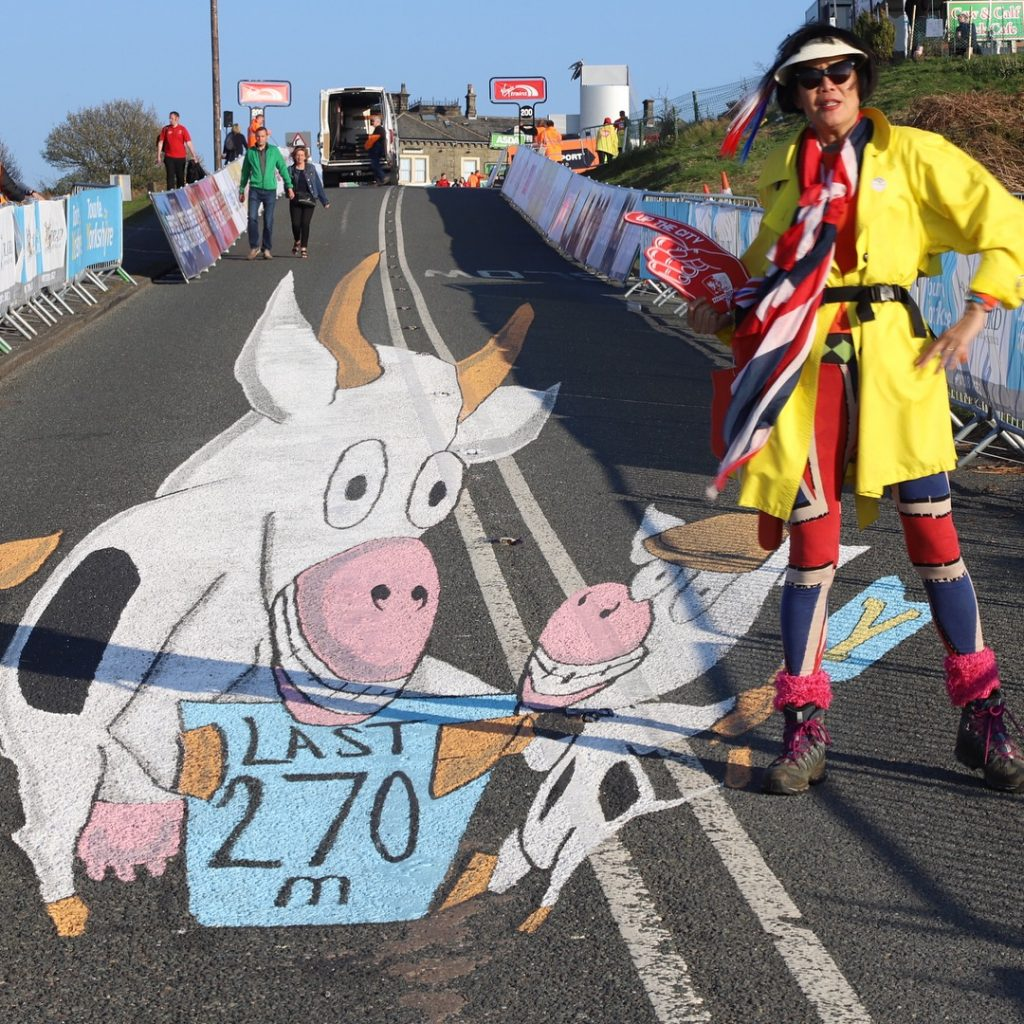 cow and calf tour de yorkshire street art
