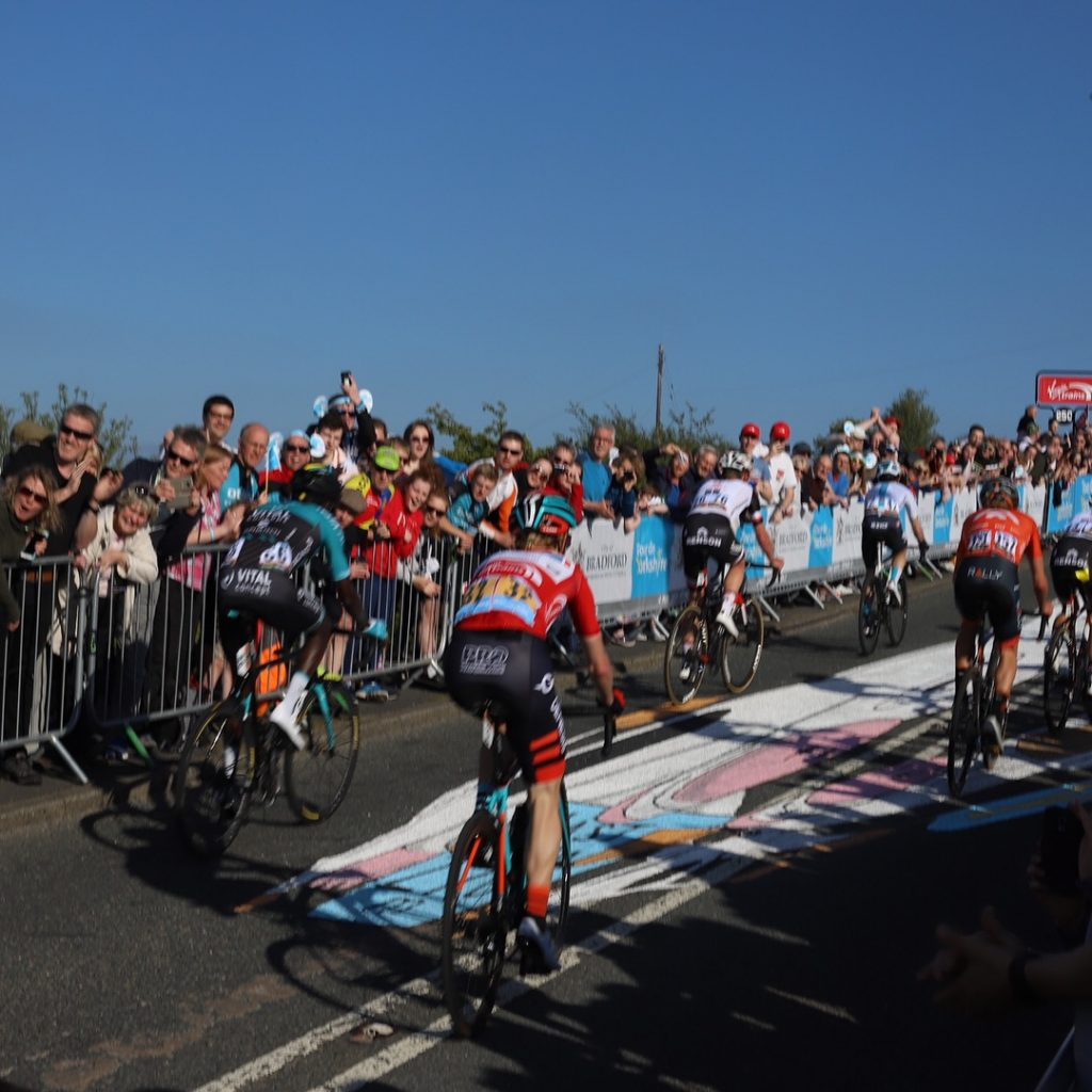 tour de yorkshire race anamorphic art