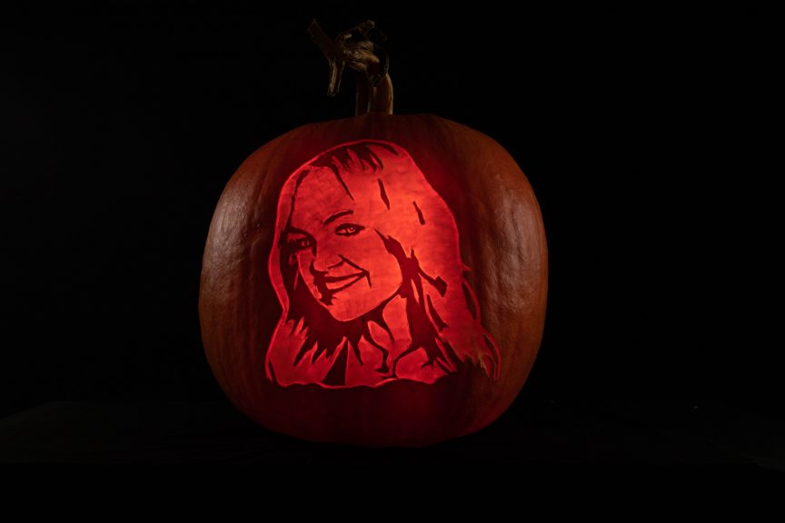 halloween professionally carved pumpkin heart fm emma bunton