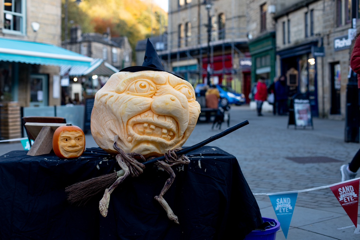 witch pumpkin carving hebden bridge festival
