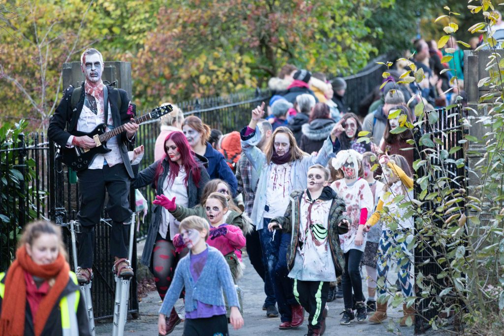 hebden bridge pumpkin festival zombies