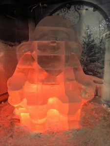 ice bar santa claus ice sculpture