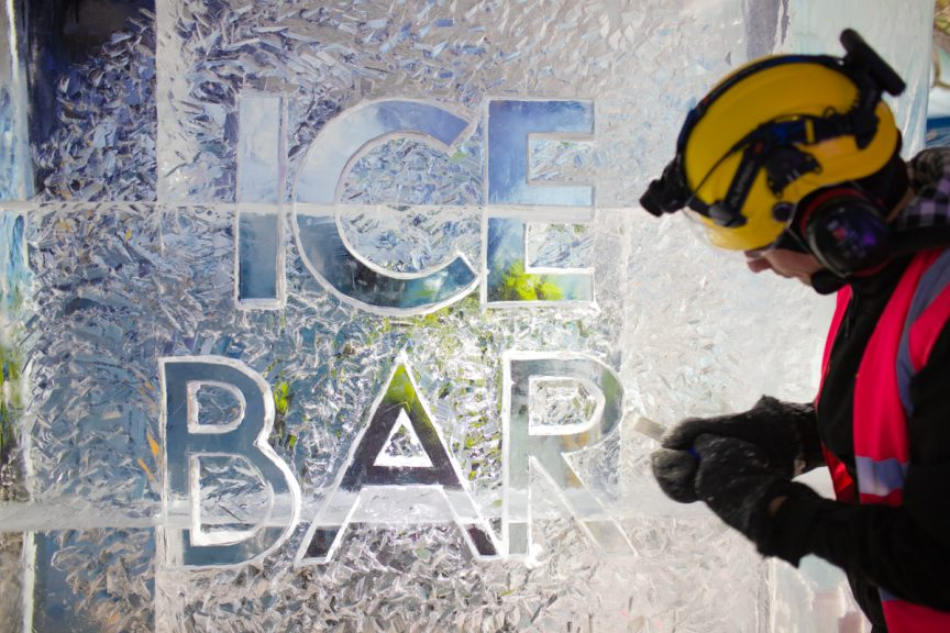 ice sculpture logo ice bar nottingham