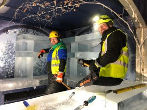 nottingham winter wonderland ice bar