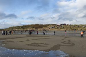 world war one commemoration beach sand art credit Oskar Proctor