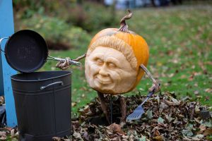 yorkshire water wipes block pipes campaign carved pumpkin
