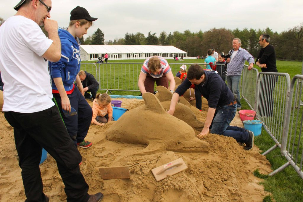 sand sculpture workshops yorkshire UK