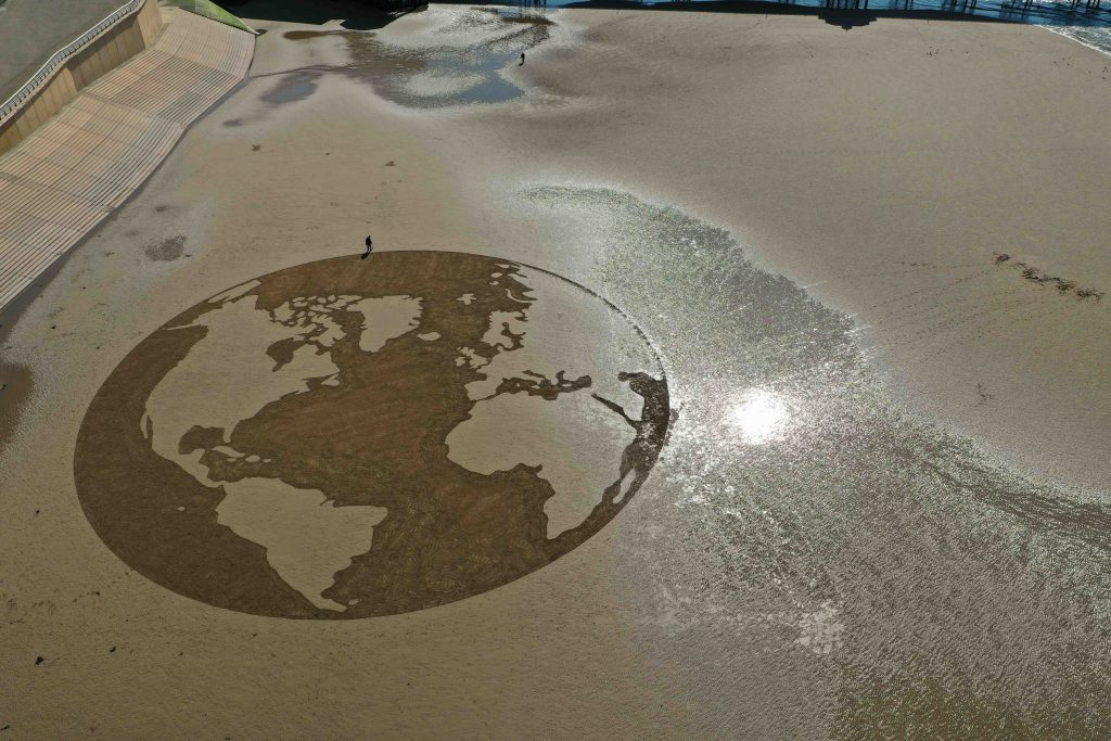 earth hour sand art