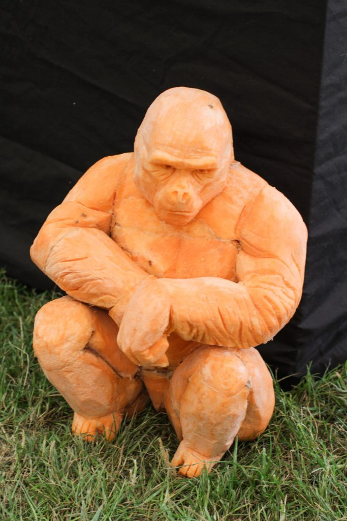 carved vegetable gorilla