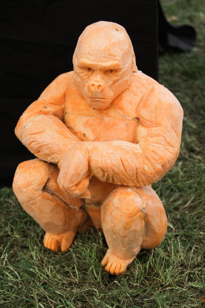 vegetable gorilla sculpture