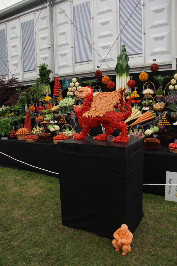 vegetable sculpture Chelsea flower show