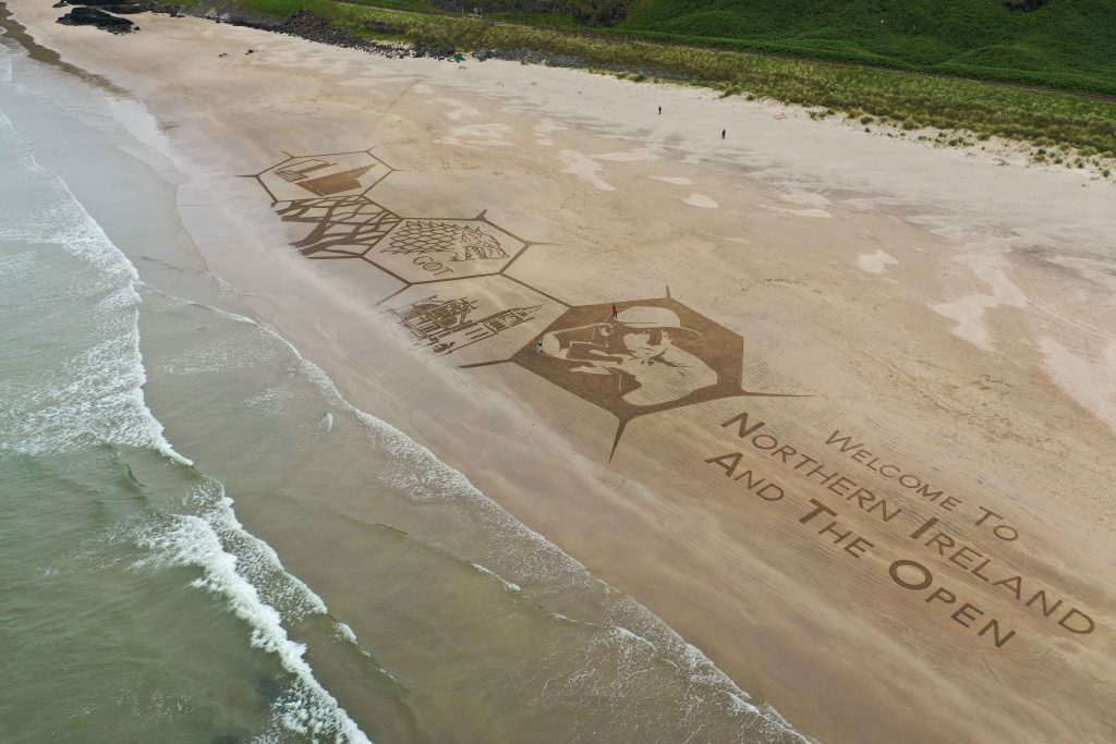 sand art golf open
