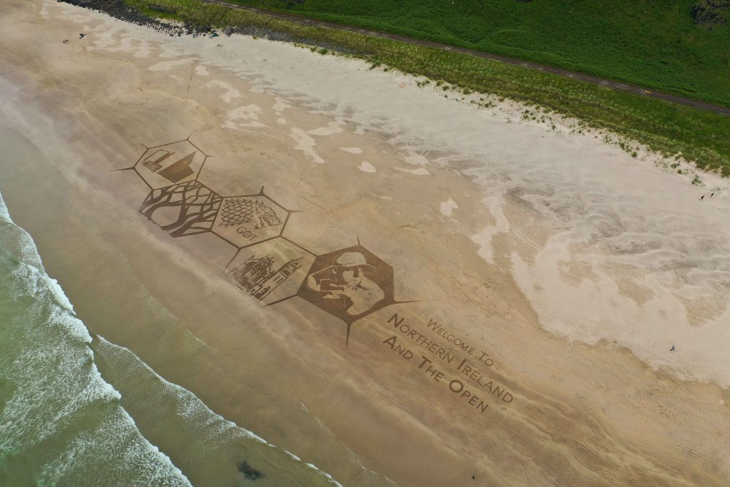 Sand drawing Ireland
