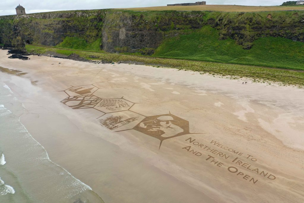 sand drawing northern ireland