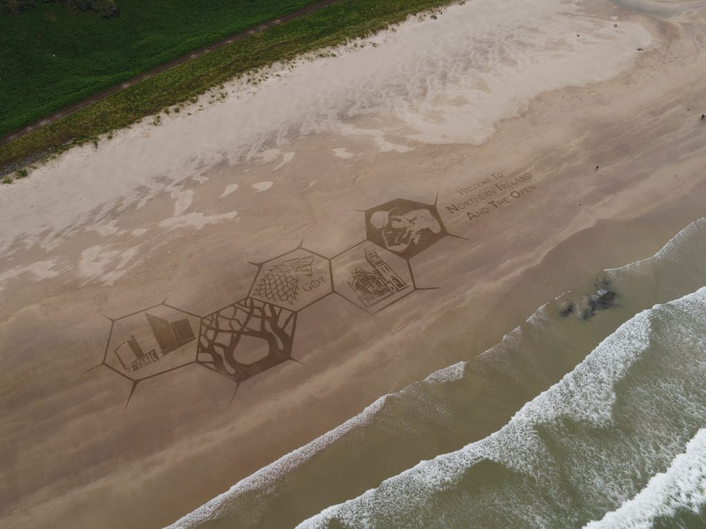 sand drawing golf open