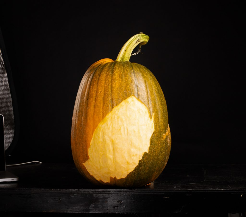 3d carved pumpkin