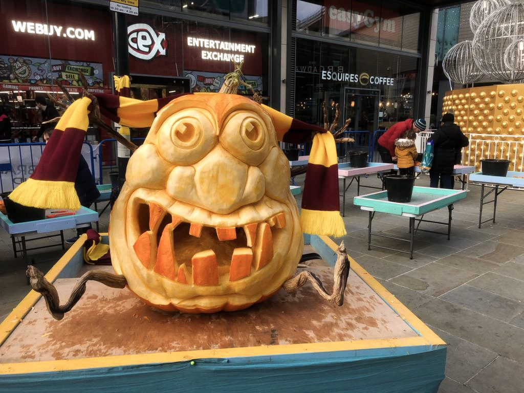 bradford city football pumpkin