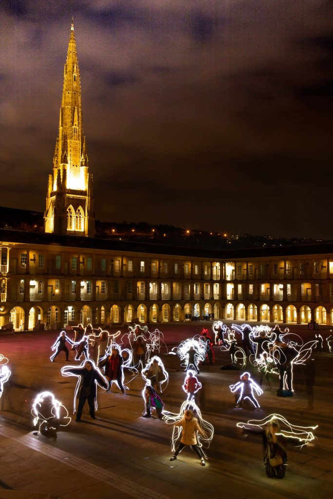 light art piece hall yorkshire