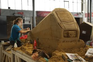 greater anglia sand sculpture