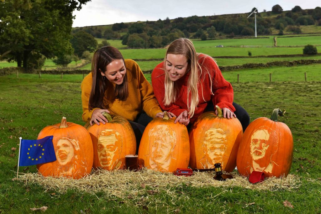 stencilled faces pumpkin carving