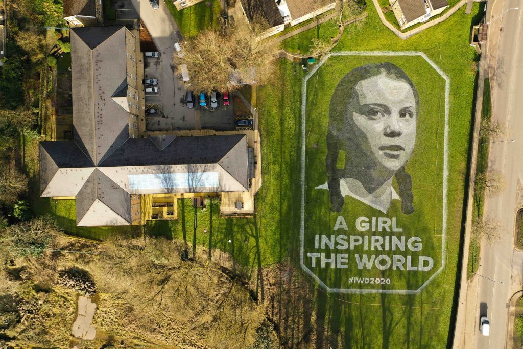 field art uk greta thunberg