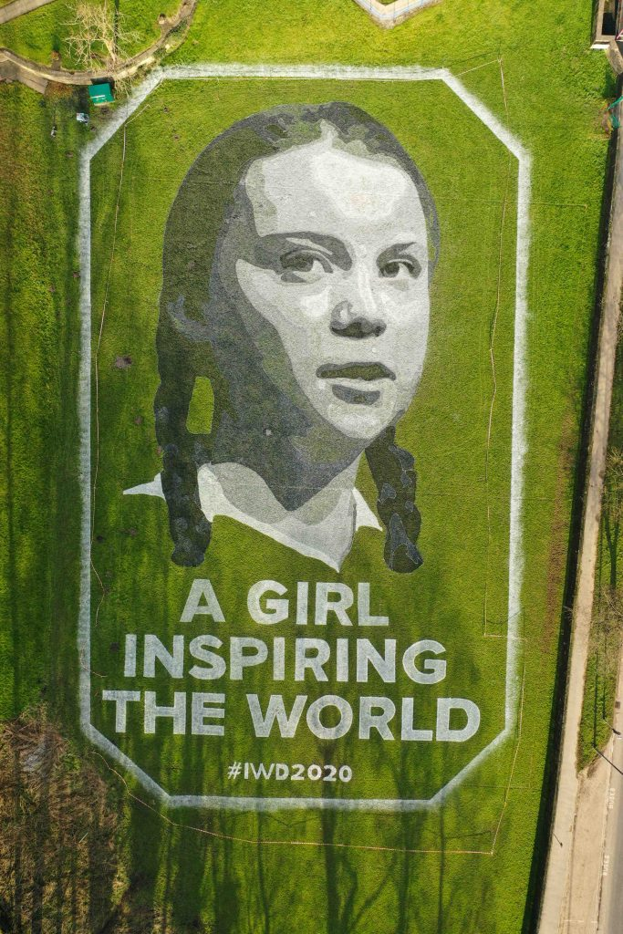 greta thunberg land art