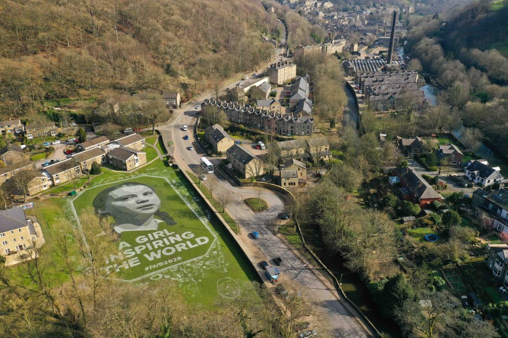 greta thunberg portrait hebden bridge