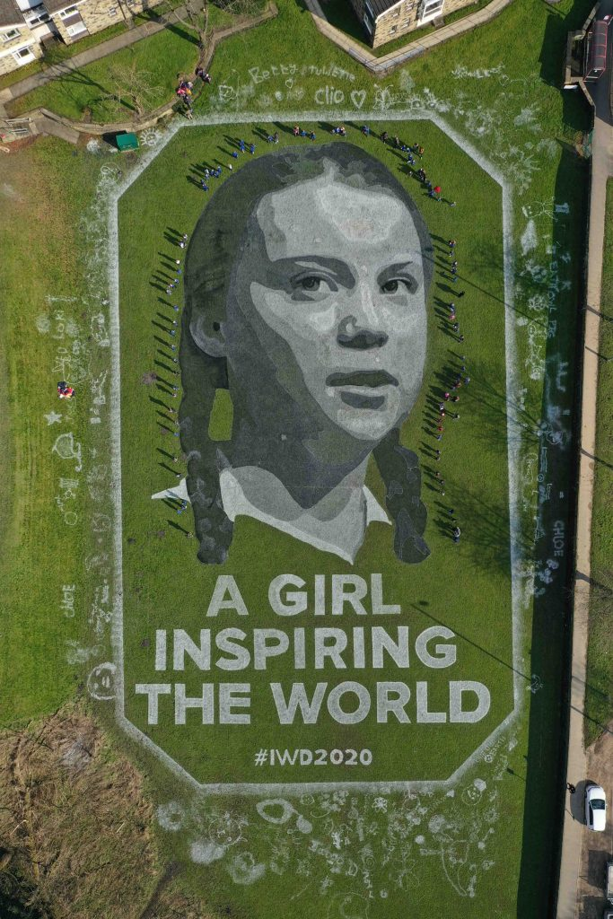 land art greta thunberg