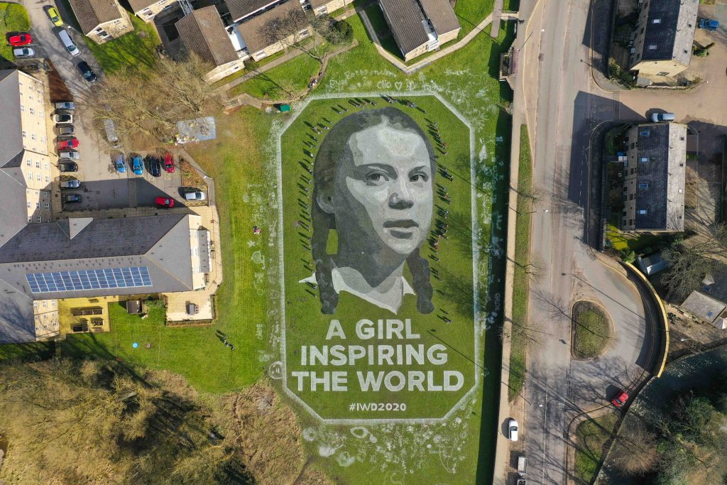 land art greta thunberg hebden bridge
