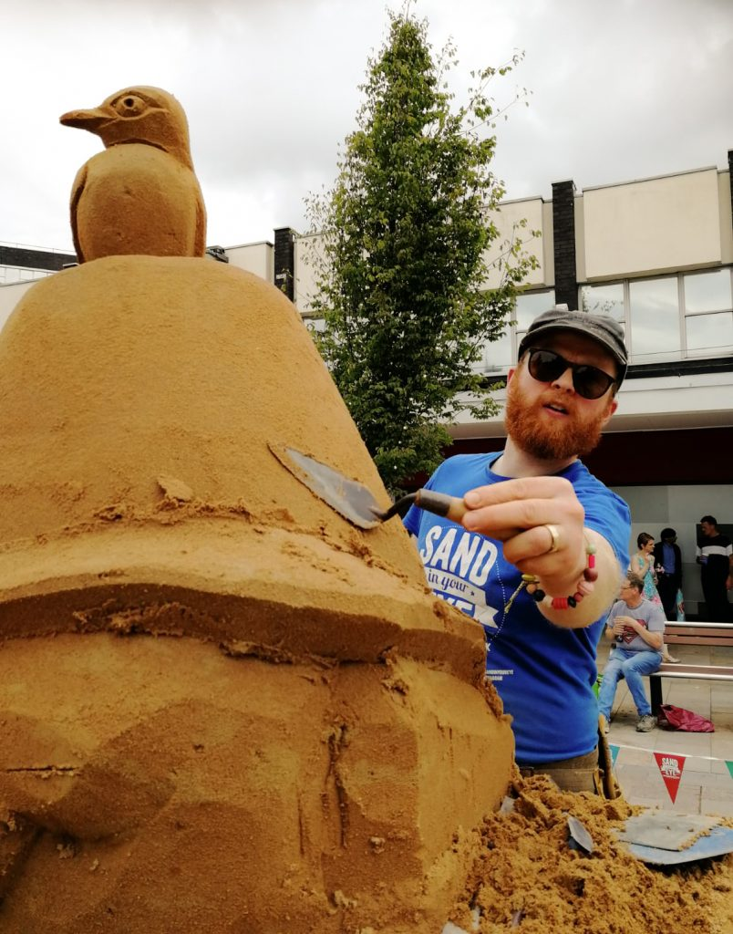 professional sand sculptor jamie wardley