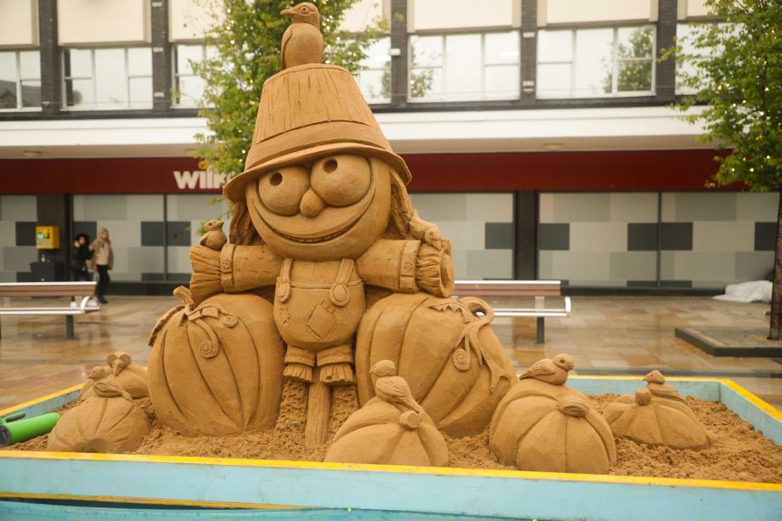 professional sand sculpture yorkshire