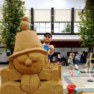 table top sand sculpture
